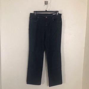 Eileen Fisher Dark Wash Straight Leg Jeans Size 16